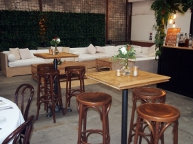 Cosy seating and bar area