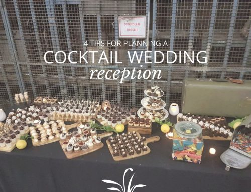4 Tips for a Cocktail Wedding Reception