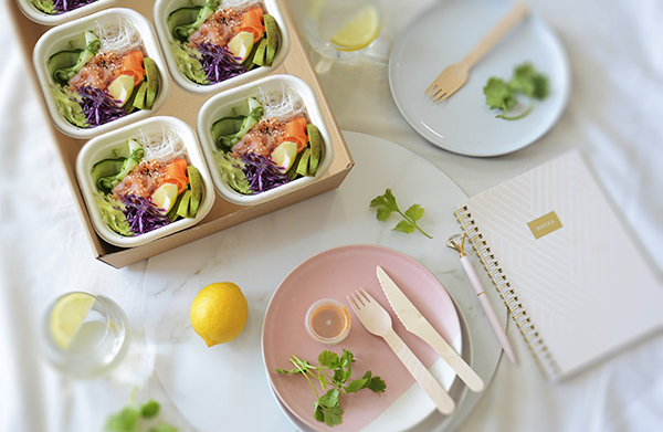 poke bowl platter catering delivery